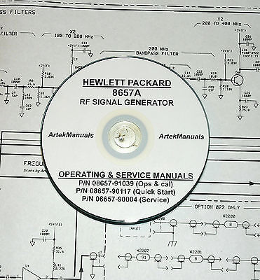 Hewlett Packard Ops & Service Manuals 3volumes for the 8657A RF Signal Generator