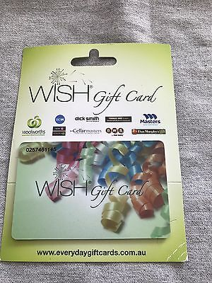 Woolworths Safeway WISH gift card $50 issued May 2017 expires May 2018
