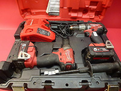 Milwaukee M18FPP2A-502C 18V 5.0Ah Li-Ion Cordless Fuel NEXT GEN 2pce Combo Kit