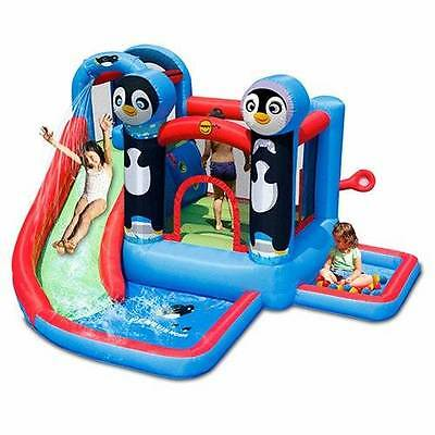 PENGUIN WATER WORLD Jumping Castle and Water Slide (9483)