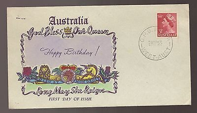 SCARCE 1953 QE11 First Australian OVERSEAS MAILER Unused FDC - See Text