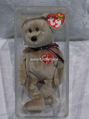 Ty Beanie Baby Teddy In Storage Box With Mint Tags Released 1999