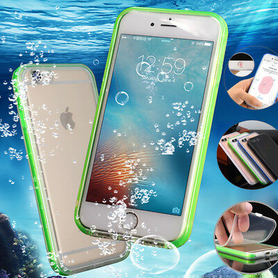 iPhone 7 8 Plus XS Max XR X Waterproof Shockproof Slim TPU Case Full Body Cover