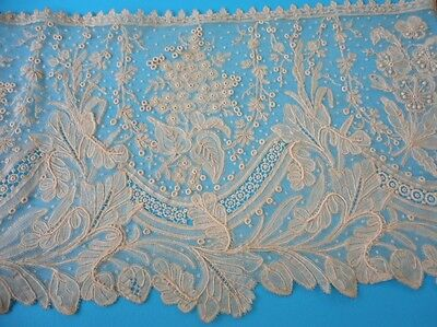 """Antique Lace Edging (NOS) Unused French (?) 7"""" x 100""""  NR"""