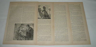 1871 article with engravings ~ MISS MARIGOLD'S THANKSGIVING