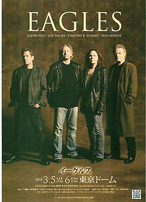 The EAGLES 2011 Japanese Flyer / mini Poster 10x7 inches