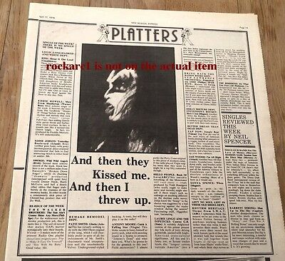 KISS 'Shout It Out Loud' single review 1976 UK ARTICLE / clipping