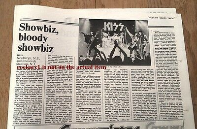 KISS New York concert review 1976 UK ARTICLE / clipping