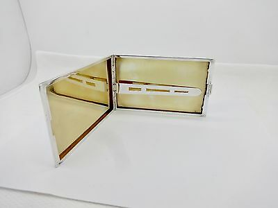 Large Vintage Tiffany Gilt Sterling Silver Cigarette Id Document Case,clean
