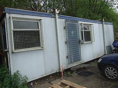 28Ft X 12Ft Site Office Cabin Portable Building Canteen With Frame Very Dry