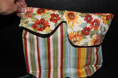 Longaberger Collector Club Mailbox Basket Liner in Reversible Sunflower Print &