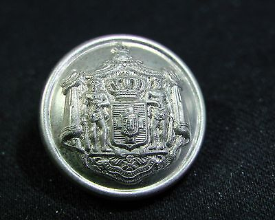 c.1890 GREEK ROYAL HOUSEHOLD STAFF COAT OF ARMS Silver 15mm Cuff Button A.M.&Cie