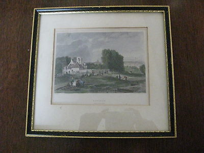 Antique hand coloured engraving London by C. Marshall