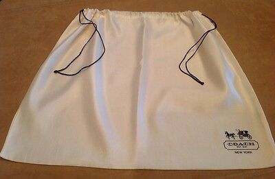 COACH Storage Pouch, Large Dust Cover, Purse Holder, Drawstring Bag, Ivory