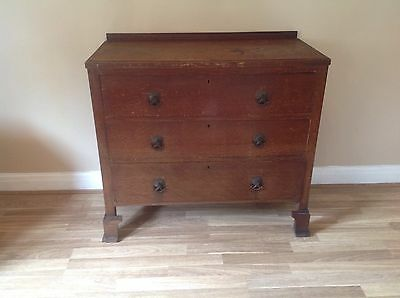 Edwardian Wooden Chest Of Drawers