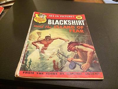 "SUPER DETECTIVE LIBRARY Picture Comic #121. ""BLACKSHIRT"" AND THE ISLAND OF FEAR"