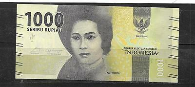 Indonesia 2016 1000 Rupiah New Unc Banknote Paper Money Currency Bill Note