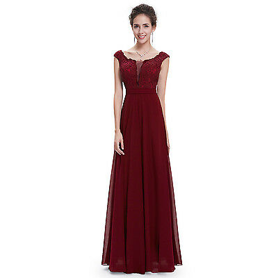 Ever-Pretty Women Burgundy Evening Formal Gown Long Dress 08628 Size 10