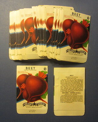 Wholesale Lot of 100 Old Vintage 1940's BEET - Crosby's Egyptian - SEED PACKETS