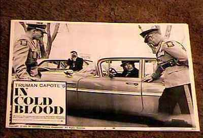 In Cold Blood  '68 Lobby Card #2 Truman Capote Vintage Car
