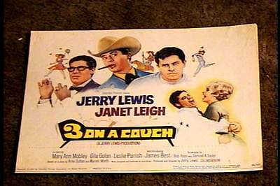 Three On A Couch 1966 Lobby Card #1 Jerry Lewis