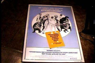 Everything U Wanted To Know About Sex Rolled 27X41  Movie Poster R80 Woody Allen