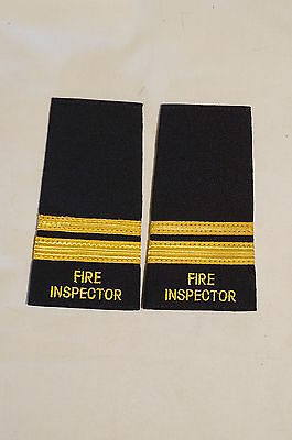 Canadian Montreal Fire Inspector Division Chief Slip Ons Epaulettes Pair