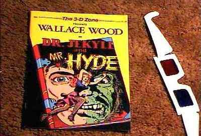 Dr Jekyll And Mr Hyde 3-D #1 Comic Book With Glasses Nm Wally Wood