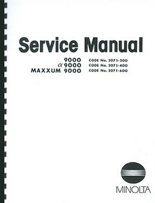 Minolta Maxxum 9000 Service & Repair Manual