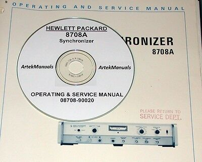 HP  8708A SYNCHRONIZER OPERATING AND SERVICE MANUAL (Early Serial #'s)