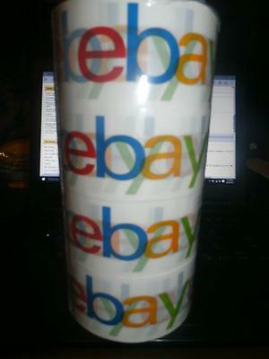 """New Ebay Packaging Tape 4 Rolls Each Roll 75 Yards 2"""" Wide Strong Packages"""