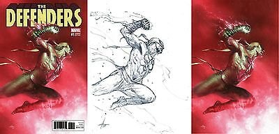 Defenders #1 Gabriele Dell'otto Colour, Sketch, Virgin Variant Set Marvel Nm