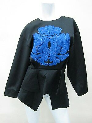 Cameo Women's Black Long-Sleeve Blouse Top Size M NWT