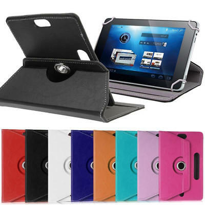 Universal Leather 360 Rotate Flip Stand Case Cover For 7 8 9 10 Inch Tablet PC