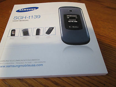 Samsung T139 T-Mobile Cell Phone Users Guide Owners Manual