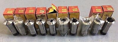 "10 ROYAL 5C Collets 1/8"" To 1"" NOS Machinist Tools"