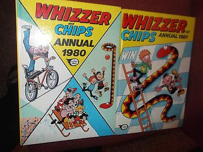 Whizzer And Chips Annual 1980 & 1981 Vintage Comic Books (2 books) Hard Back
