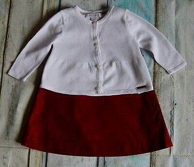 Baby Girls Burberry Designer Clothes Bundle Red Dress White Cardigan 6 Months