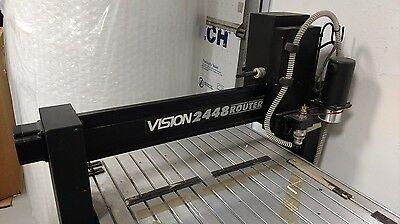 """Vision 2448 Engraving and Routing System  24"""" x 48"""" w/ Table & Extras"""
