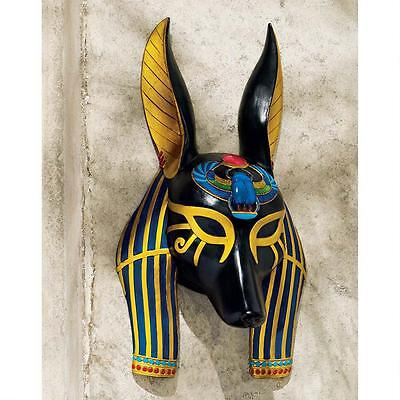 Ancient Egyptian Jackal God of Afterlife Anubis Wall Mask Sculpture