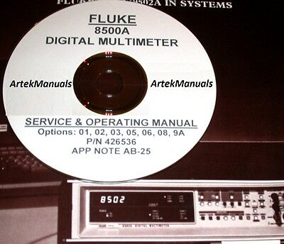FLUKE 8500A Ops/Service Manual + App Note & Options (2)