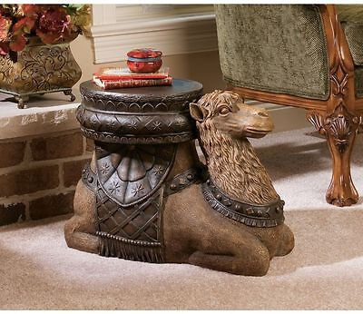 Exotic Sultan's Camel Sculptural Side Table Dromedary Display Stand