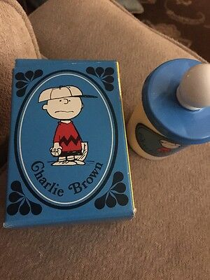 "Vintage Peanuts Charlie Brown Avon Bubble Bath Mug ""new"" In Box"