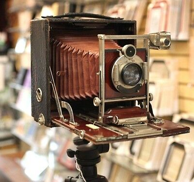 Rochester Optical Pony Premo No.4 Wood 5x7 Large format Camera Zeiss Anastigmat