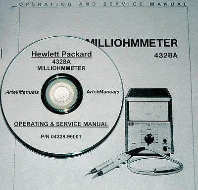 Hewlett Packard Operating & Service Manual for the 4328A MILLIOHMMETER