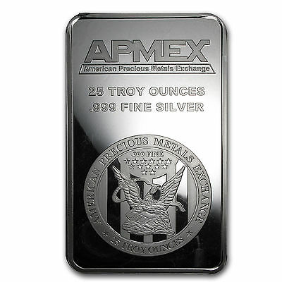 25 Oz Silver Bars APMEX (Struck)