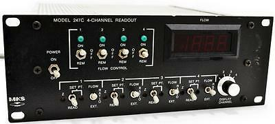 Mks Instruments 247C 4-Channel Mass Flow Controller Power Supply Readout Unit