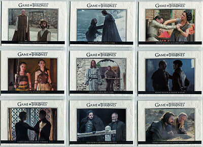 Game of Thrones Season 6 Relationships Complete 10 Card Chase Set DL31 to DL40