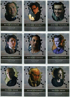 Gotham Season 2 Rising Villains Complete 9 Card Chase Set V1 to V9
