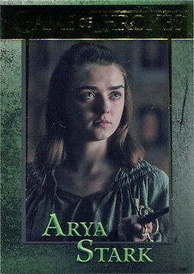 Game of Thrones Season 6 Gold Parallel 44 Base Chase Card 084/150 Arya Stark